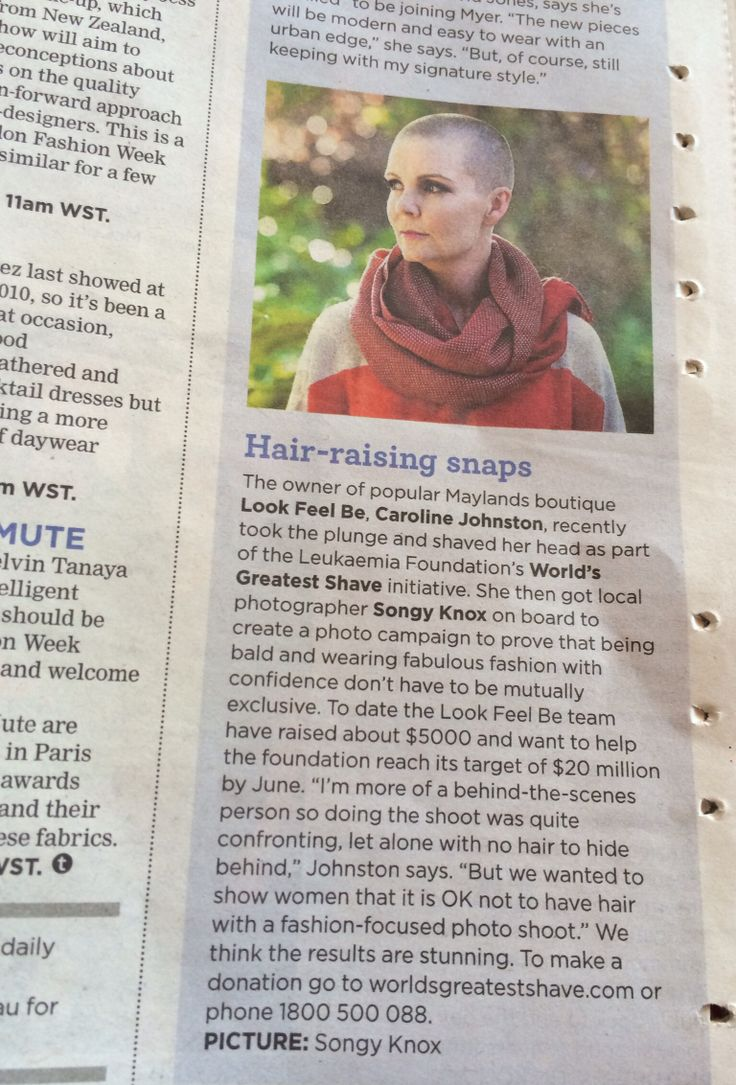 Press clipping ... Bald style