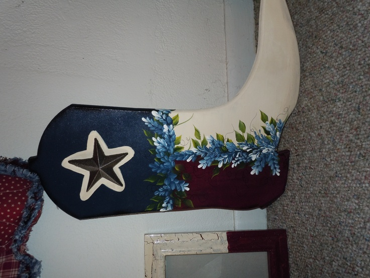 made this for my son.  Got the precut board from Winnie Trade Days, then just painted the Texas flag