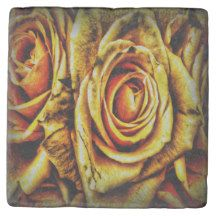 Golden Rose Marble Stone Coaster $9.95