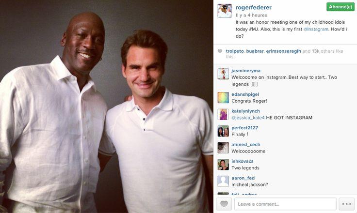 Roger Federer lance son compte Instagram!
