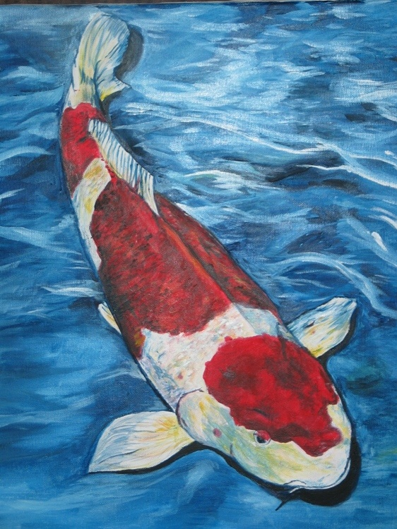 17 best images about art lesson ideas koi fish on for Koi fish pond art