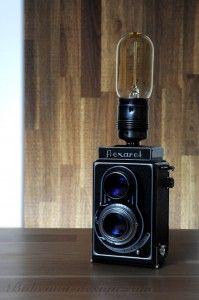 Stolní lampa Flexaret vintage + Edison retro žárovka