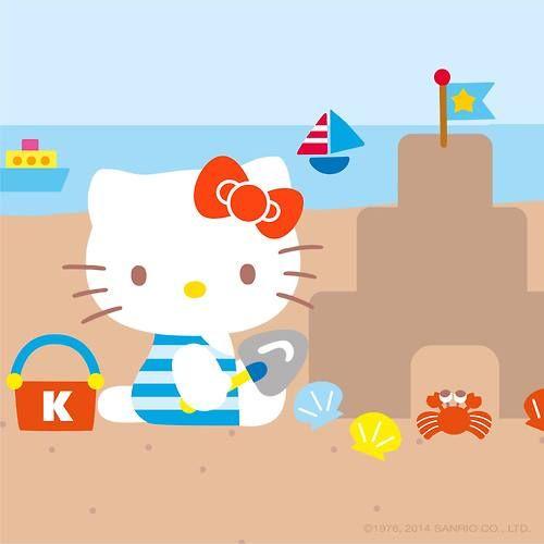 Beach Hello Kitty.