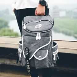 SHARE & Get it FREE | Leisure Men's Backpack With Zippers and Pockets…