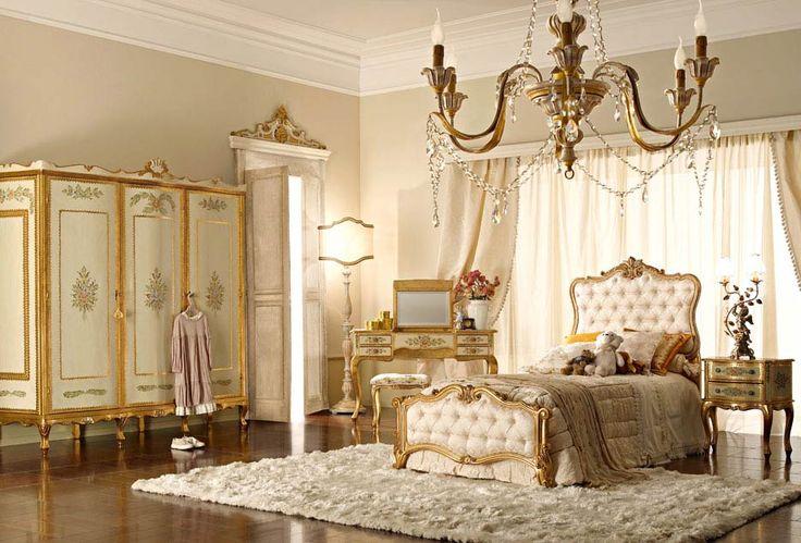 Camera da letto in stile veneziano - Camera bianca e oro | Cameras ...