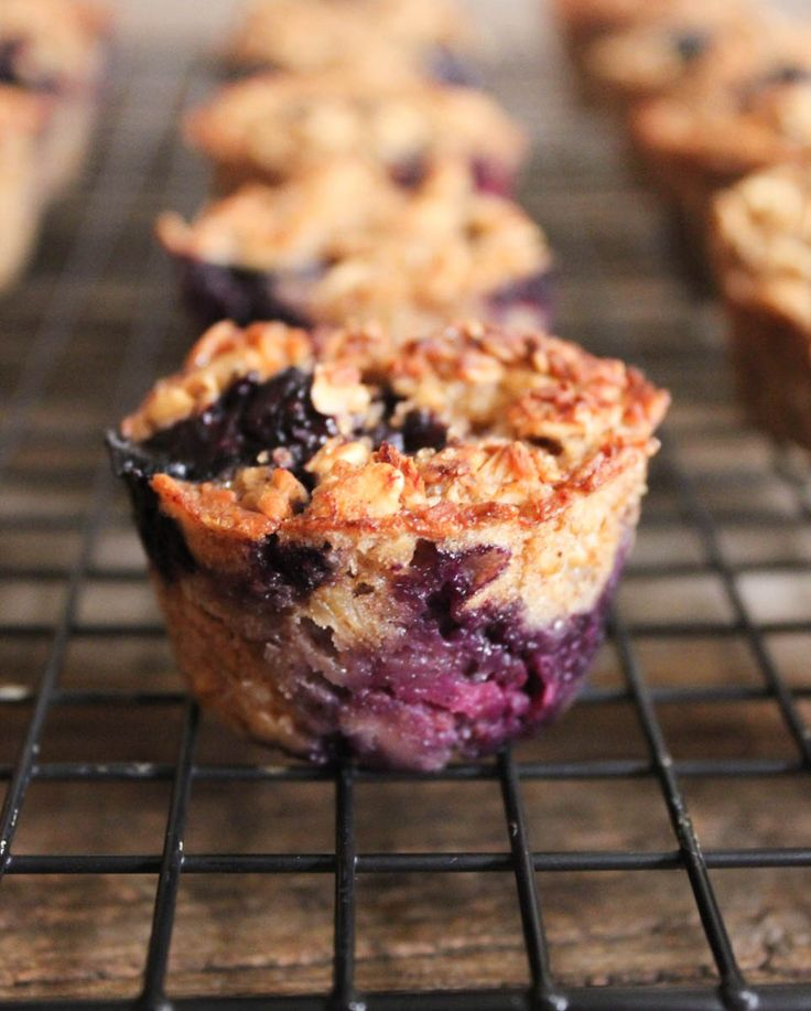 Banana-Berry Baked Oatmeal Bites. Gluten-free, dairy-free, and ridiculously delicious!