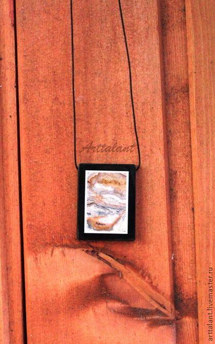 "Кулоны, подвески ручной работы. Ярмарка Мастеров - ручная работа Кулон с агатом ""Dark fate"" - агат, инкрустация. Handmade."