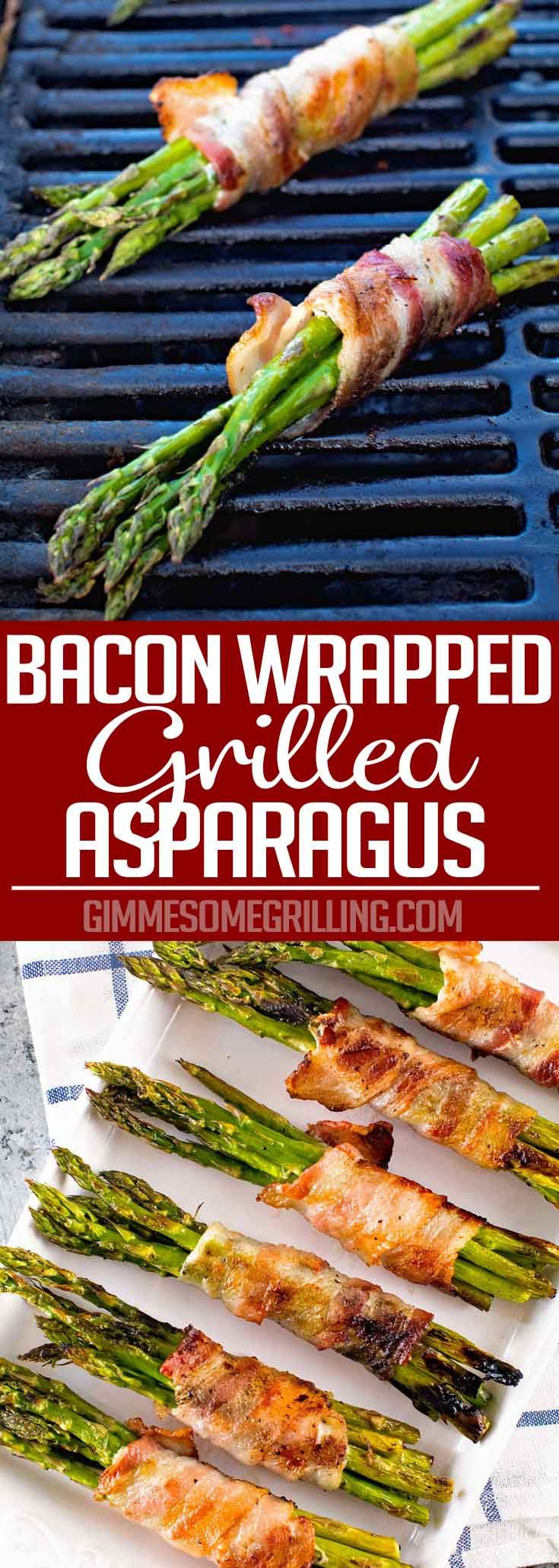 Grilled Bacon Wrapped Asparagus ~ Easy, Grilled Side Dish That is Paleo! Crispy Bacon Wrapped Around Tender Asparagus Spears!