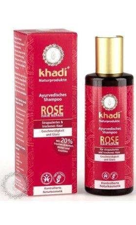 Khadi šampón RŮŽE reparační a hydratační. Využijte naší dopravu zdarma při nákupu nad 890 Kč. Váháte? Přijďte se podívat do našeho showroomu v Praze, kde máme k dispozici všechny testery.