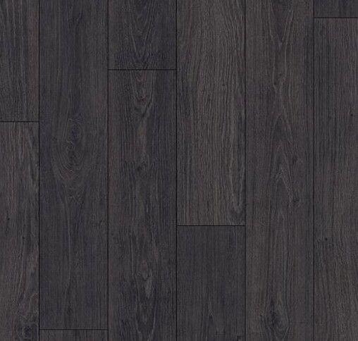 Quick step Livyn PVC vloer Essential 004 Klassieke Eik zwart V4 Met vellingkant en voelbaar structuur