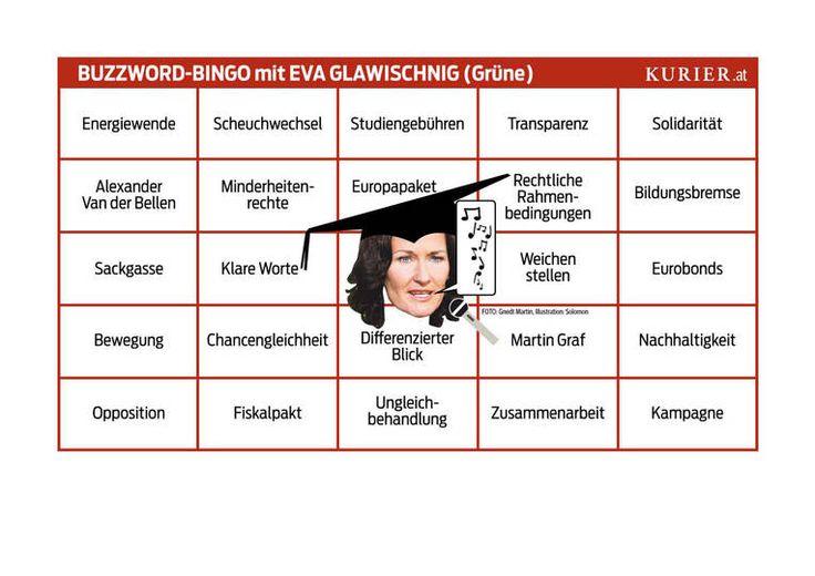Bingo für das Sommergespräch mit Eva Glawischnig (2012)