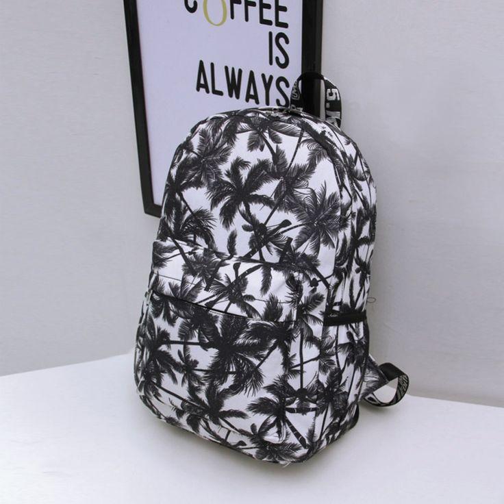 Hot 2016 Women's Canvas Backpack Graffiti Coconut Palm Rucksack for Teenage Girls School Bag Backpacks Bolsa Feminina Carteira #clothing,#shoes,#jewelry,#women,#men,#hats,#watches,#belts,#fashion,#style