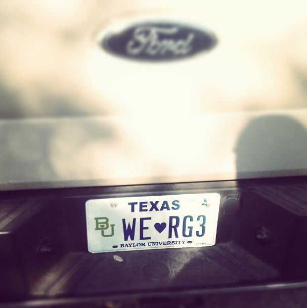 Yep, this is real. (via tjmappe on Instagram) #SicEm #RGIII #RG3 #Baylor