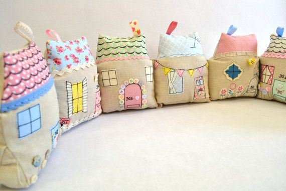 Cute Cottages Draught Excluder SEWING PATTERN by OwlandSewingCat