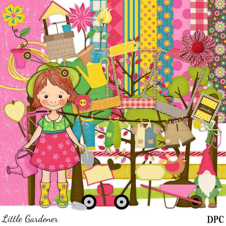 Little Gardener Scrapbook, Gardening Scrabook, Outdoors Scrapbook Kit, Girl Scrapbook, Nature Scrapbook, Nature Scrap Kit, Instant Download by DigitalPaperCraft on Etsy