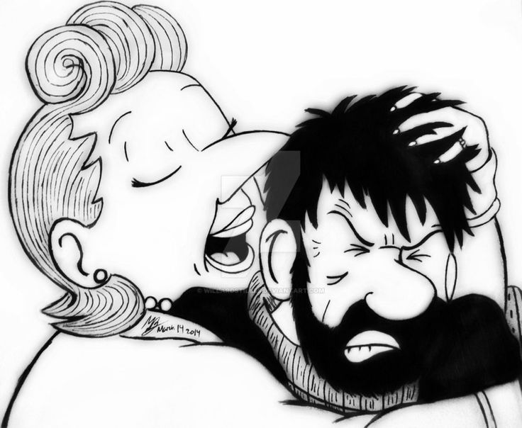 The Adventures of Tintin: Haddock and Bianca by WillardStilles on DeviantArt