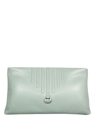 An extremely elegant leather clutch bag with shoulder belt. The bag is in mint color. From the inside it is decorated with quilted lining in silver. The whole suspended on a long leather belt. Each original handbag GOSHICO id is in the middle of the tab with our logo. PRICE: 720 zł http://goshico.com/en/elegancka-kopertowka-do-reki-i-na-ramie.html