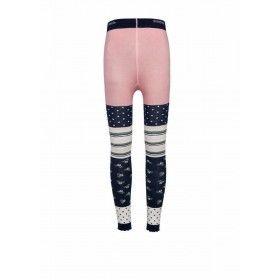Ewers legging streep lichtgrijs-roze stip-streep-bloemprint
