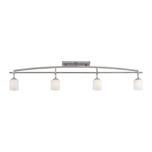 Quoizel Lighting Modern Track Light Kit with White Glass in Antique Nickel Finish | TY1404AN | Destination Lighting