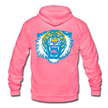Roaring Tiger by Cherful Madness!! Suitable for plot printing, flex and flock. Fully customizable: you can also change the colours of the graphic.  Hoodies & Sweatshirts.