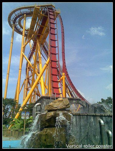 Roller coaster in Guangzhou China