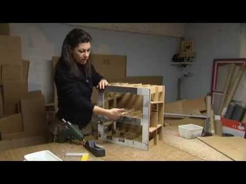 Créatrice de meubles en carton - YouTube