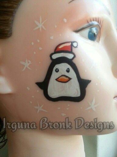 Christmas facepaint pinguïn