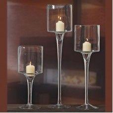 Pahare pentru lumânări set 3 buc H30-50