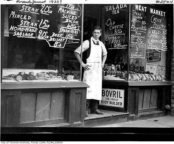 What butcher shops used to look like in Toronto