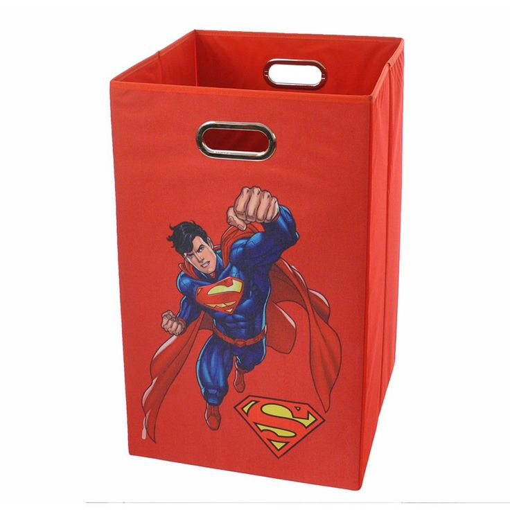 DC Comics Superman Collapsible Laundry Basket, Red