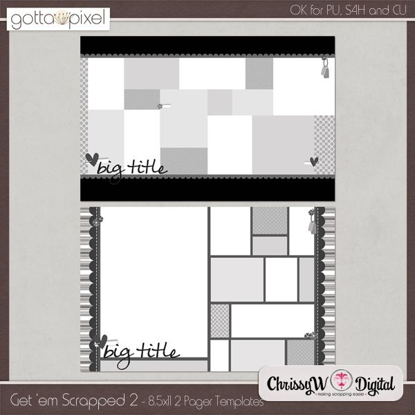 Get 'em Scrapped Set 2 - 8.5x11 Double Page Templates  http://www.gottapixel.net/store/product.php?productid=10002743&cat=0&page=6