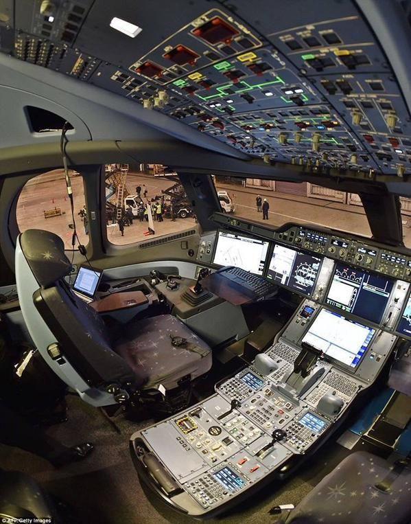 cockpit for A359 XWB via twitter/ CockpitChatter