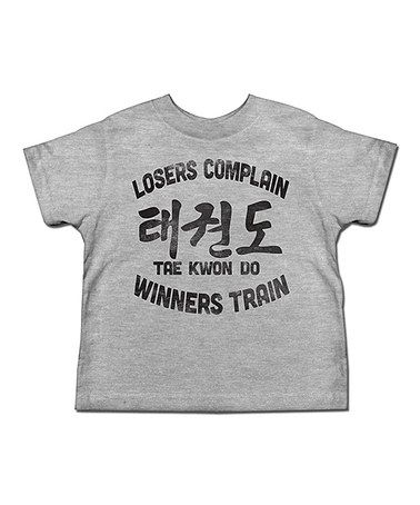 Look what I found on #zulily! Gray 'Tae Kwon Do' Tee - Toddler & Kids #zulilyfinds
