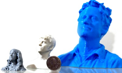 3D printer technology--  make a tiny bust of yourself or those you stalk!