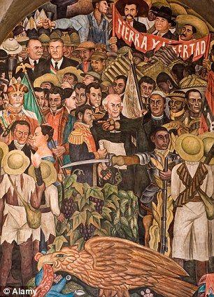 Diego Rivera Famous Murals | An education: Diego Rivera's mural inside the Palacio Nacional deals ...
