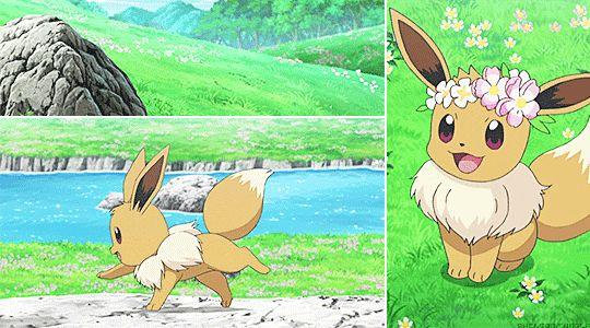 AWWWWW I LOVE EEVEE  Pokemon  Pokemon gif Pokemon eevee
