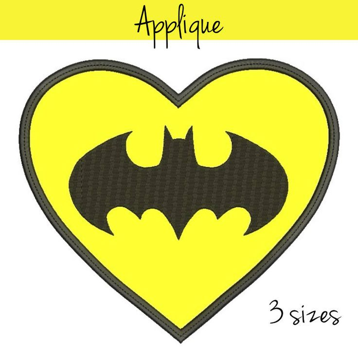 Embroidery design 4x4 5x7 6x10 Batman embroidery applique Heart Valentines Machine Design digital instant download pattern hoop pes file by SvgEmbroideryDesign on Etsy