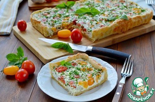 Сметанный пирог с черри - кулинарный рецепт