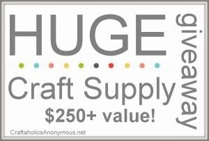 Craftaholics Anonymous giveaway!: Crafts Giveaways, Awesome Giveaways, Crafts Ideas, Fun Stuff, Crafts Projects, Crafts Stuff, Amazing Giveaways, Supplies Giveaways, Crafts Supplies