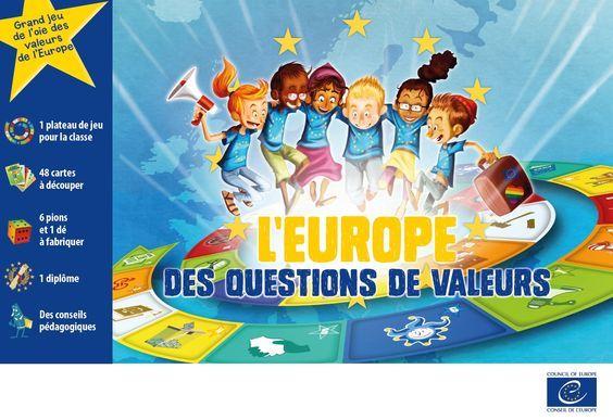 Un grand jeu éducatif sur les valeurs de l'Europe !Enseignants, faites découvrir à vos élèves de 8-12 ans les valeurs partagées en Europe : liberté d'expression, justice équitable, égalité homme-femme, abolition de la peine de mort, élections libres et diversité / ...