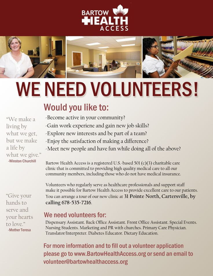 Interested in volunteering with Bartow Health Access