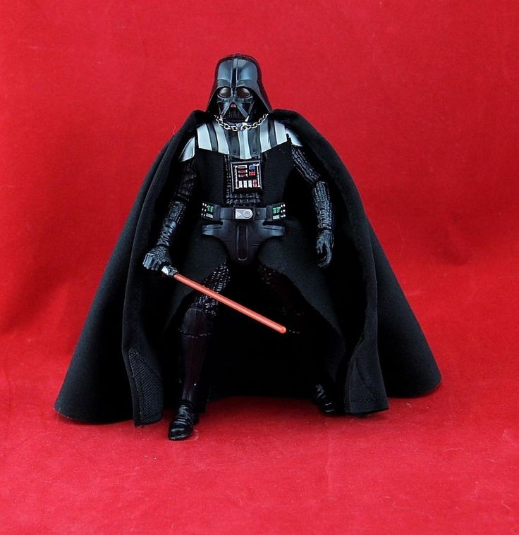 "Darth Vader Star Wars Black the Series 6"" Action Figure Return of the Jedi #Hasbro"