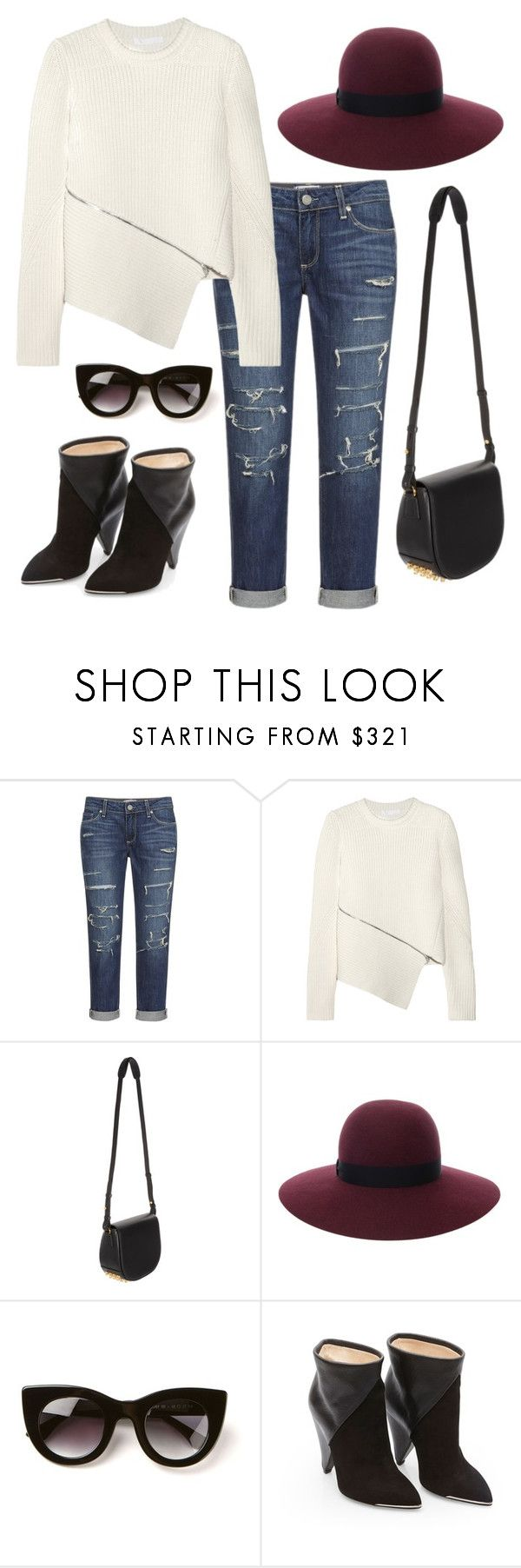 Alexander Wang Ribbed Sweater by missmelaniejane on Polyvore featuring Alexander Wang, Paige Denim, Lanvin and Thierry Lasry