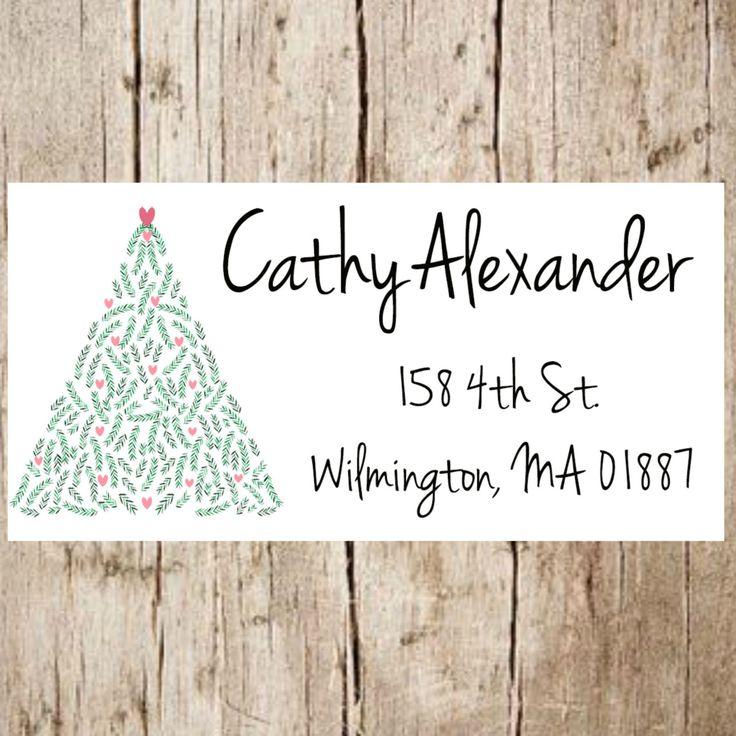 Christmas return address label,christmas address labels,christmas,christmas return address stickers,christmas tree stickers,christmas tree by Labelin on Etsy https://www.etsy.com/listing/461450190/christmas-return-address-labelchristmas