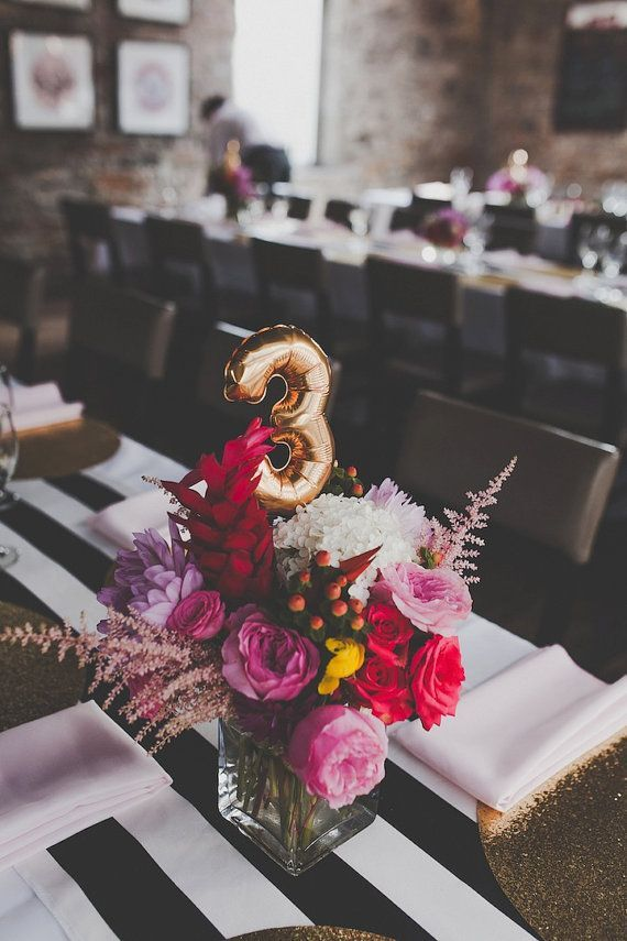 YAY // This listing is for mini air filled gold or silver foil balloons  YAY // Use these cute mini balloons as table numbers, spell LOVE for your