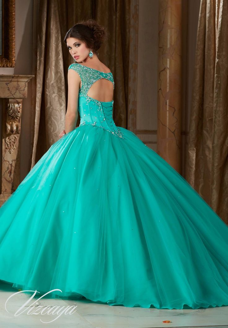 Gorgeous Turquoise Quinceanera Dresses Scoop Beaded 2017 ball gown prom dresses pageant gown sweet 16 dress vestido de festa
