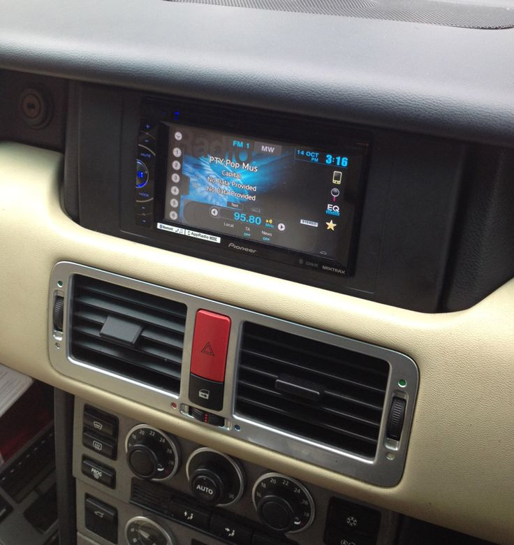 Range Rover double din conversion with Pioneer AVH-X2600BT DVD Bluetooth Stereo