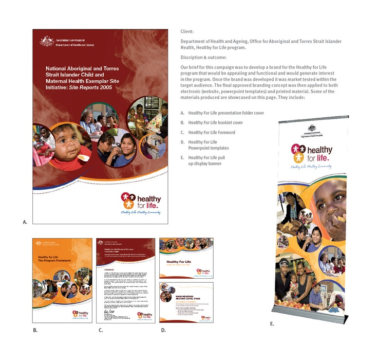Department of Health and Ageing, Office for Aboriginal and Torres Strait Islanders Health - Health For Life Program - Design & Branding