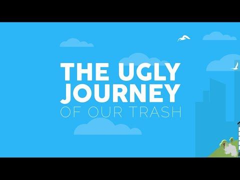 The Ugly Journey of Our Trash Infographic Animated Video #ProjectAWARE