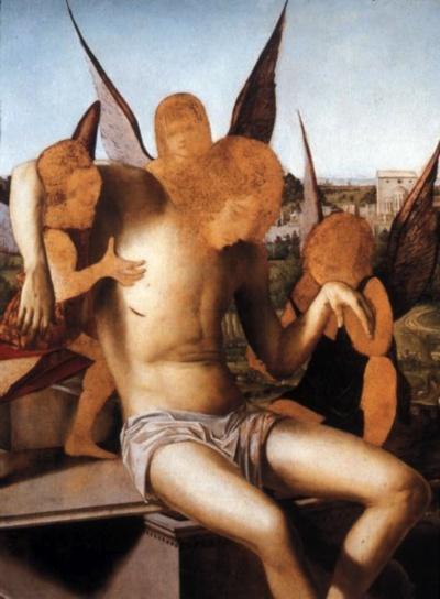 Antonello da Messina - Angel Pietà (1475)